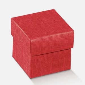 boite cube rouge
