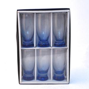 lot de verre a eau bleu