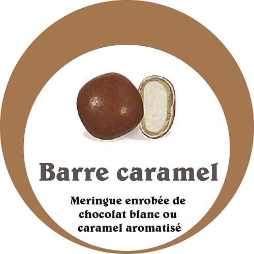 dragees barre caramel