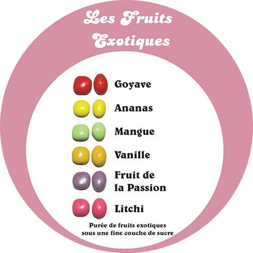 dragées fruits exotiques