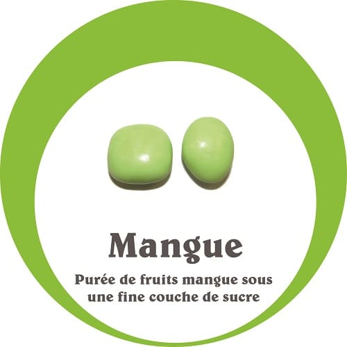 dragées fruit mangue