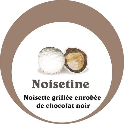 dragées noisette chocolat noir