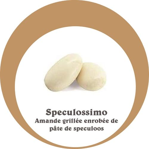 dragées speculossimo, enrobage pâte de speculos