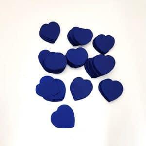 confettis coeur en papier de soie bleu