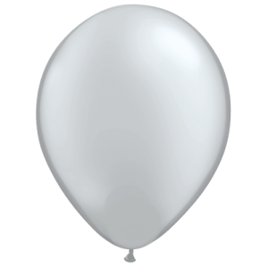 ballon latex argent