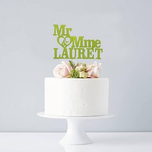 Cake topper Mr & Mme n°2