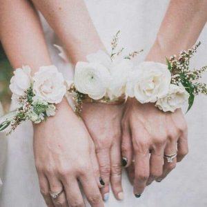 Velcro poignet mariage