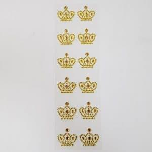 couronne autocollante or