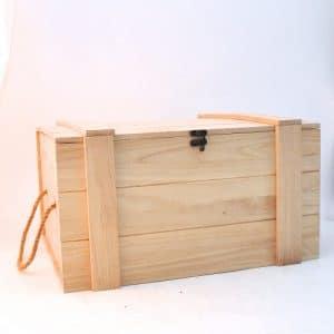 Coffre bois rectangle