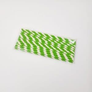paille papier vert